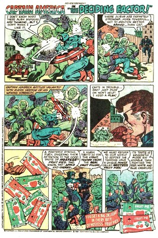 Captain America vs. Hostess Fruit Pies