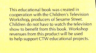 Sesame Street Book Club Disclaimer