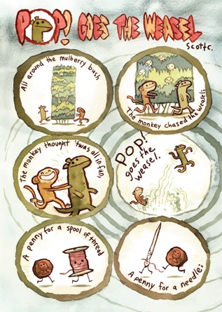 Pop Goes the Weasel in Nursery Rhyme Comics