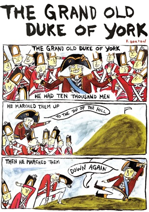 The Grand Old Duke of York in Nursery Rhyme Comics