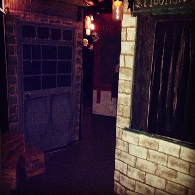Our homemade Diagon Alley...