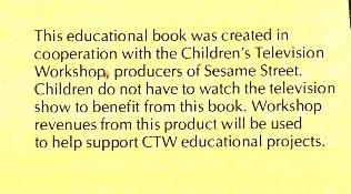 Sesame Street Book Club Disclaimer