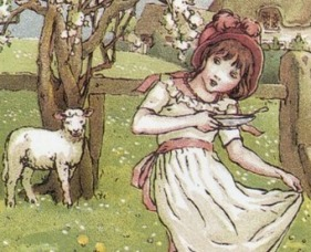 Kate Greenaway Little Miss Muffet