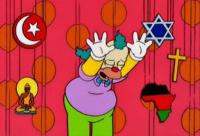 Happy Holidays from Krusty the Clown